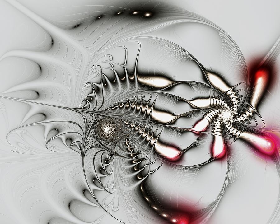 Malakhova Digital Art - Aggressive Grey by Anastasiya Malakhova