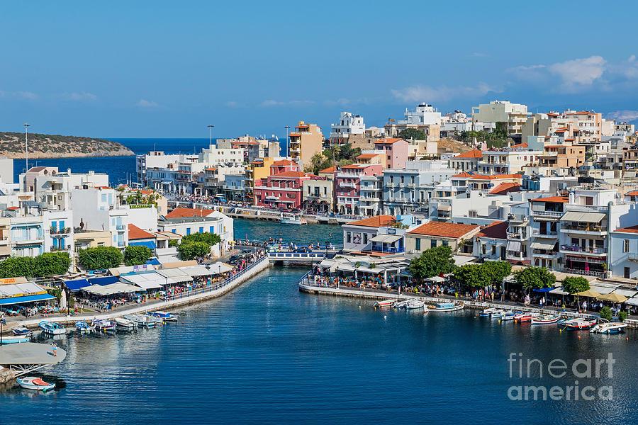 Nikolaos Photograph - Agios Nikolaos Town by Luis Alvarenga