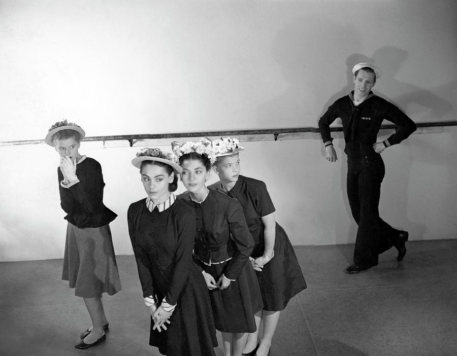 Agnes De Milles Young Dancers Modeling Suits Photograph by Horst P. Horst