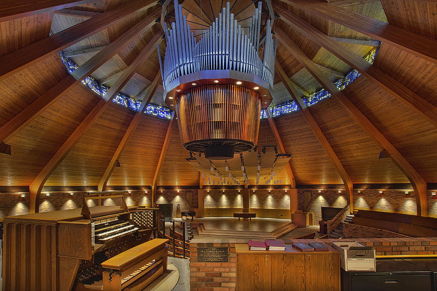 Lewis & Clark College Photograph - Agnes Flanagan Chapel by David Gn