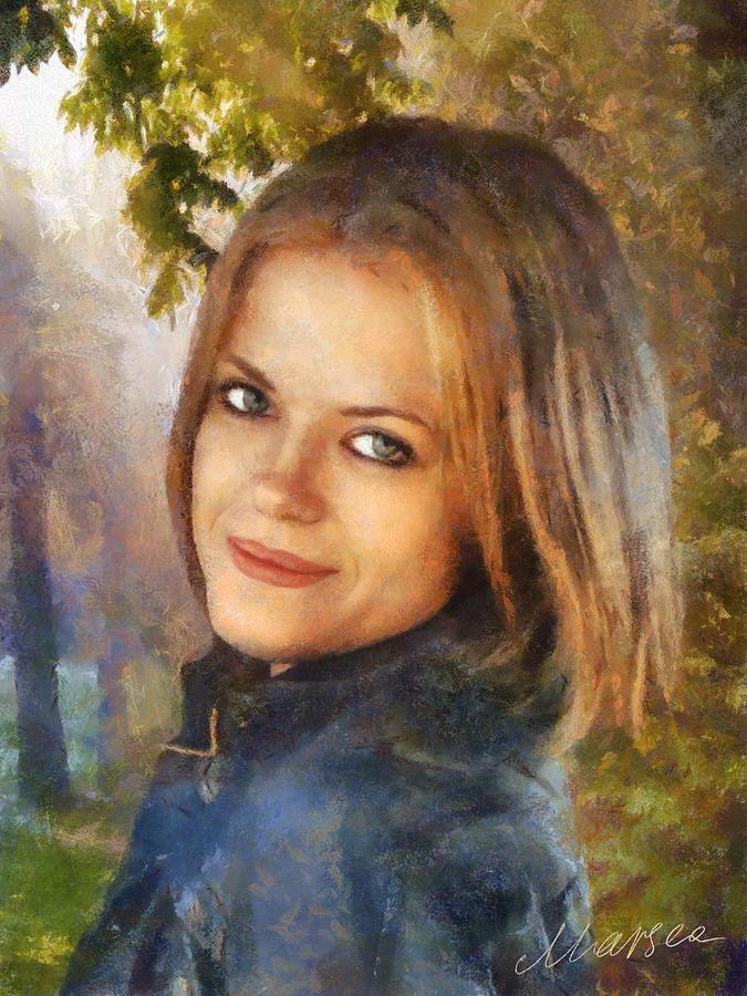 Female Portrait Painting - Agnes by Marina Likholat