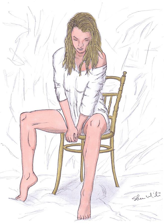 Agnieszka Radwanska Drawing - Agnieszka by Steven White