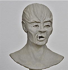 Clay Sculpture - Agony Of Slavery by Ruth Edward Anderson