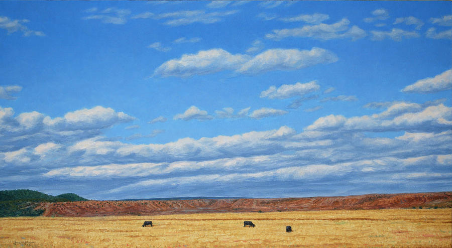 Landscape Painting - Grazing by James W Johnson
