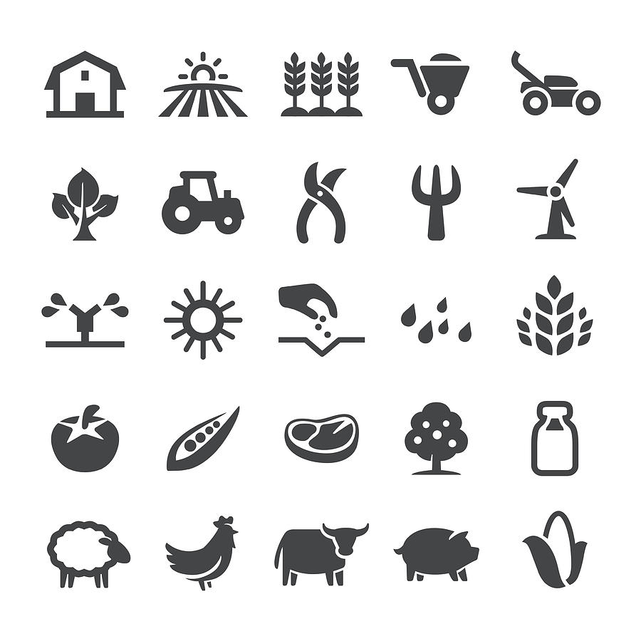 Agriculture Icons - Smart Series Drawing by -victor-