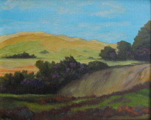 Agua Dulce Painting - Agua Dulce View by Terry Sonntag