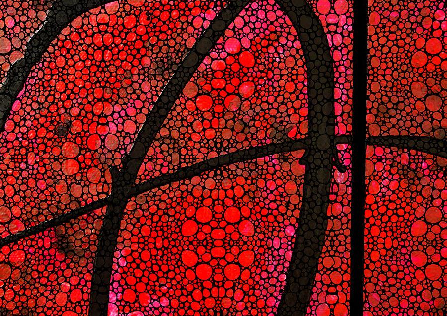 Stone Painting - Ah - Red Stone Rockd Art By Sharon Cummings by Sharon Cummings