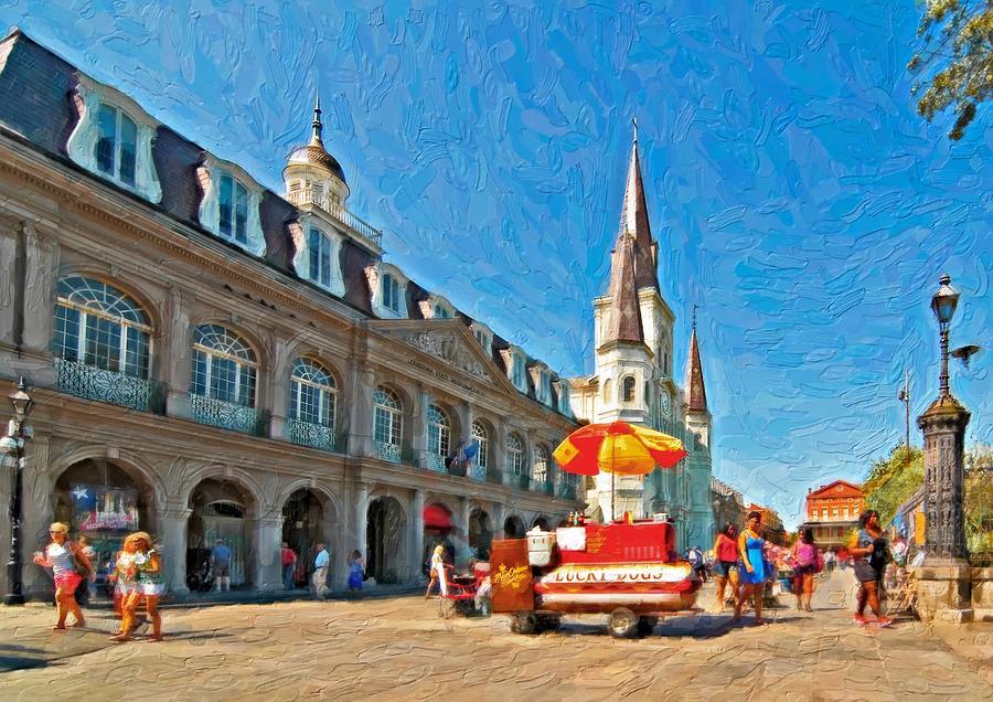 French Quarter Photograph - Ahh...new Orleans Impasto by Steve Harrington