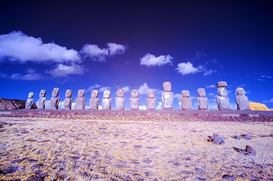 Chile Photograph - Ahu Tongariki Infrared by Jess Kraft