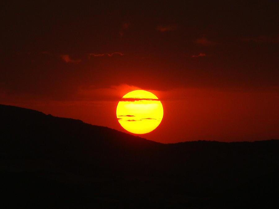 Sunset Photograph - Ain Abessa Sunset by Faouzi Taleb