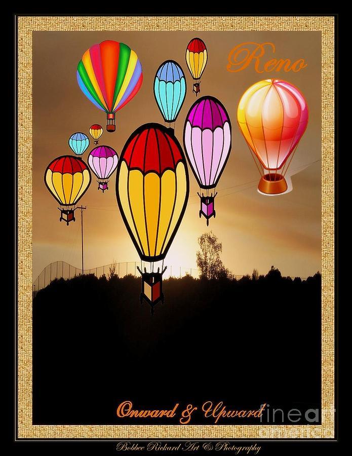 Ari Balloons Photograph - Air Balloons Reno by Bobbee Rickard