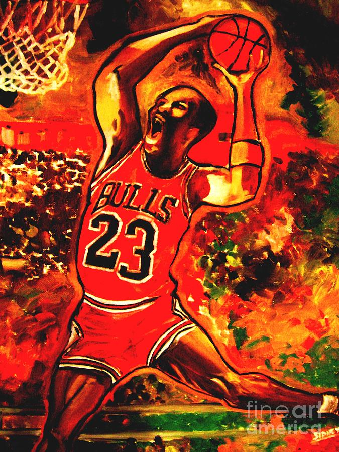 Sports Painting - Air Bound 1 by Sidney Holmes