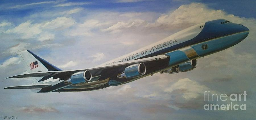 Air Force One 89th Airlift Wing 6 X 3 Feet Painting By