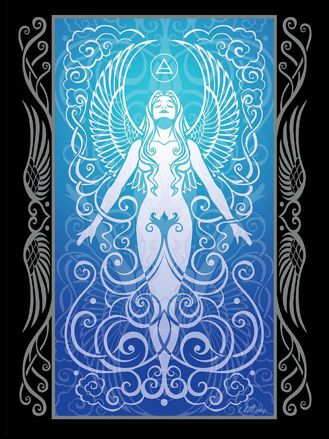 Goddess Digital Art - Air Spirit V.2 by Cristina McAllister
