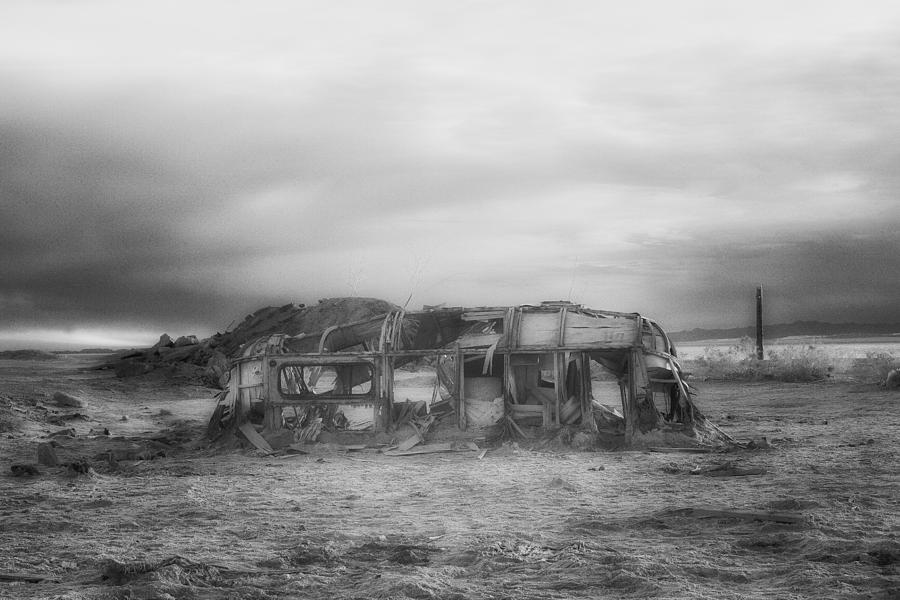 Airstream Photograph - Air Stream Cannibalized by Hugh Smith