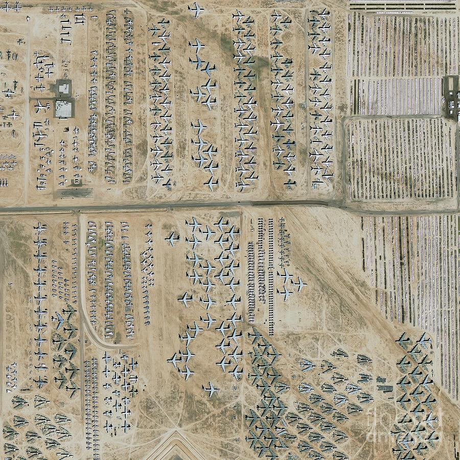 Equipment Photograph - Aircraft Graveyard, Usa by Geoeye