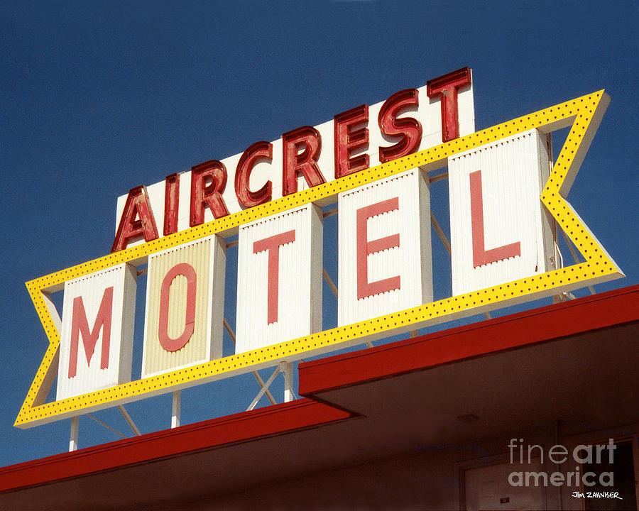 Port Angeles Digital Art - Aircrest Motel  by Jim Zahniser
