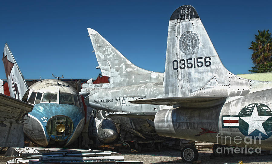 Airplanes Photograph - Airplane Graveyard - 19 by Gregory Dyer