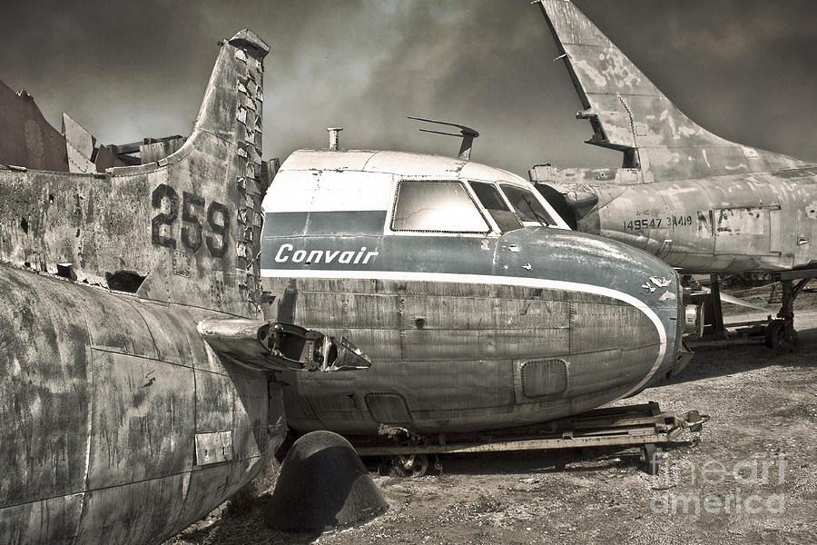 Airplanes Photograph - Airplane Graveyard - 02 by Gregory Dyer