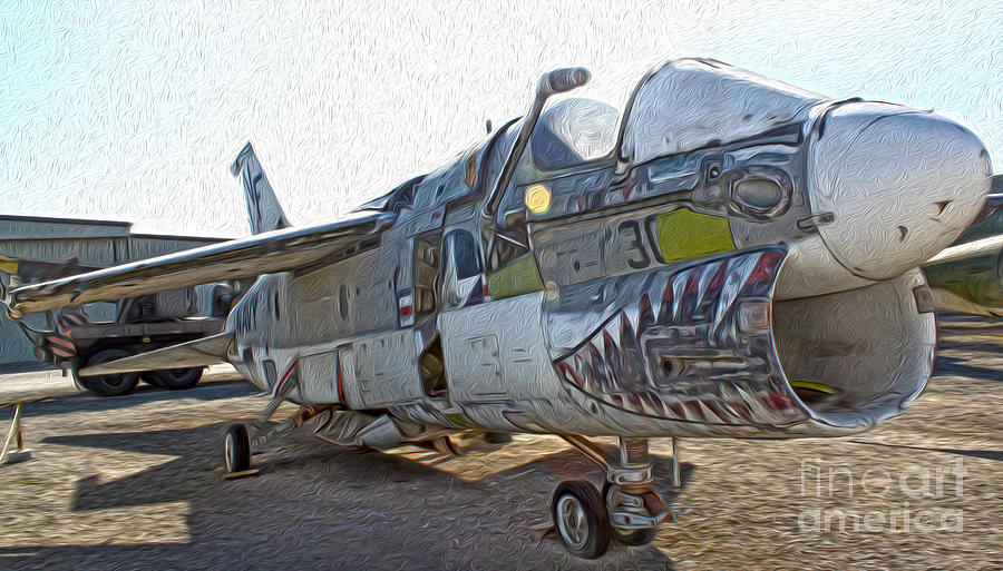 Airplanes Painting - Airplane Graveyard - 05 by Gregory Dyer