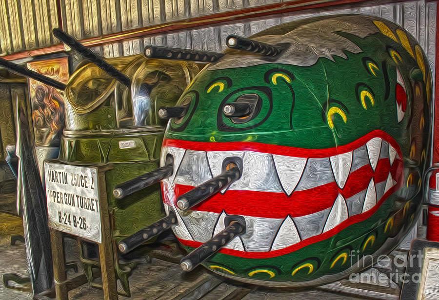Airplane Nose Gun Turret Painting - Airplane Nose Gun Turret by Gregory Dyer