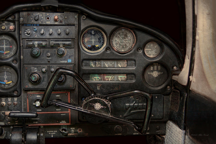 Piper Photograph - Airplane - Piper Pa-28 Cherokee Warrior - A Warriors View by Mike Savad