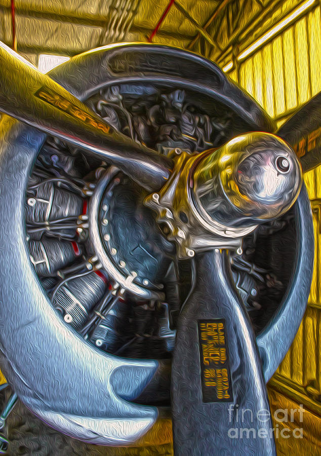 Airplanes Painting - Airplane Propeller - 06 by Gregory Dyer