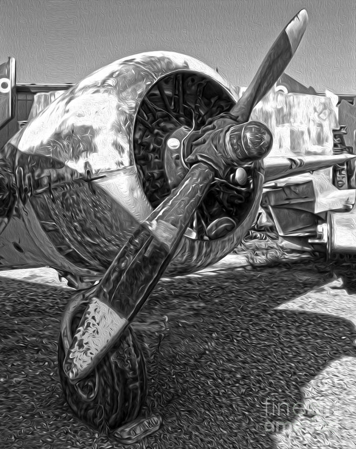 Airplanes Painting - Airplane Propeller - 07 by Gregory Dyer