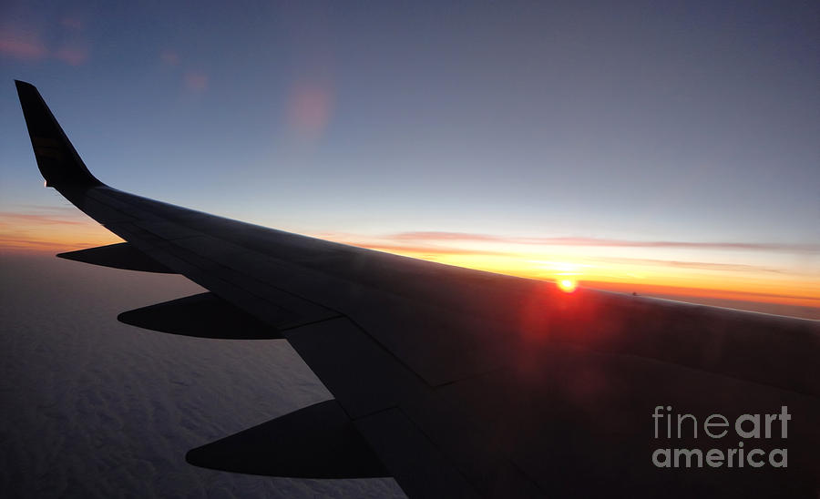 Airplane Wing Photograph - Airplane Wing - 01 by Gregory Dyer