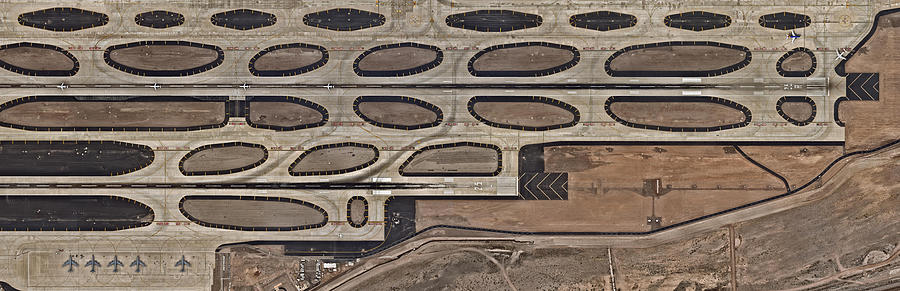 Airport With Runway From Above Photograph by Nearmap