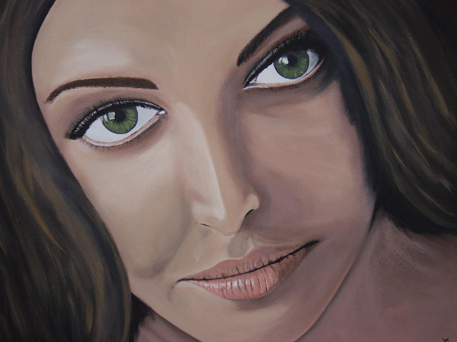 Bollywood Star Painting - Aishwarya Rai by Dean Stephens
