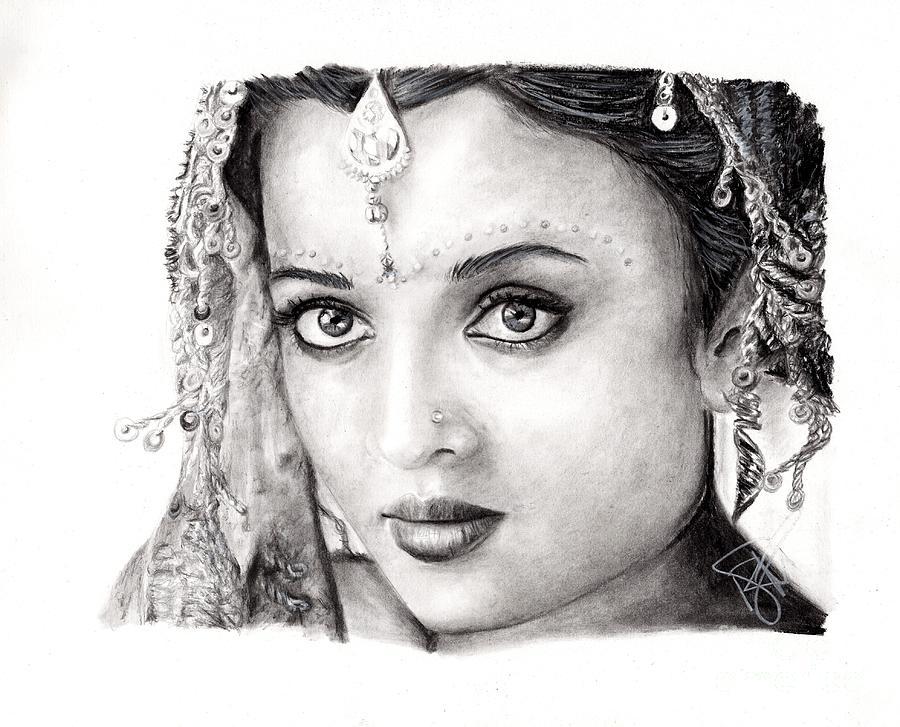 Aishwarya Rai Drawing - Aishwarya Rai by Rosalinda Markle