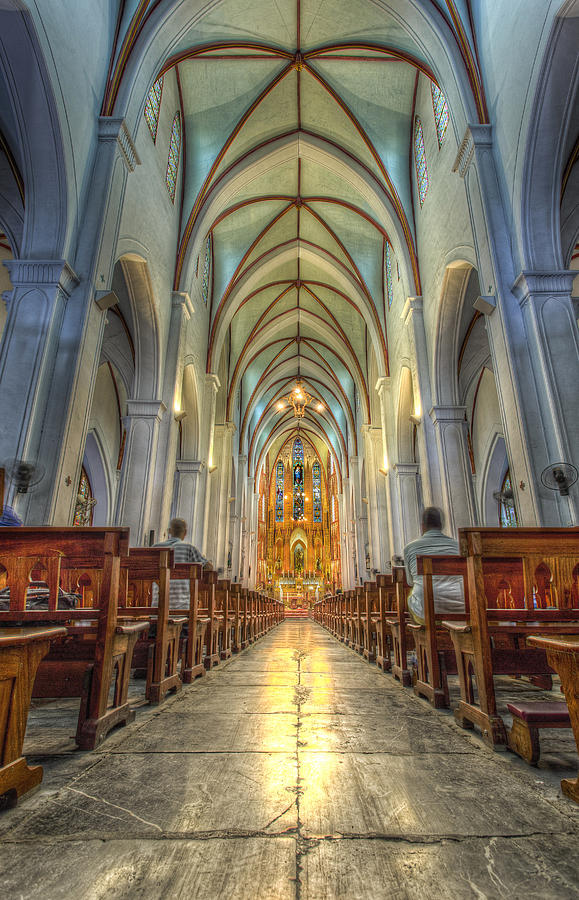 St. Joseph's Cathedral Photograph - Aisle by Mario Legaspi