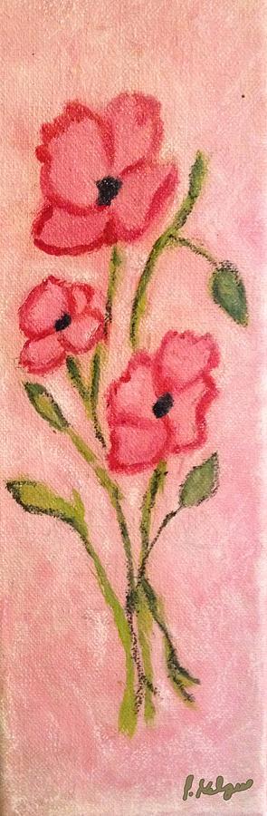 Flowers Painting - Aislinns Poppies by Pamela Kilgus