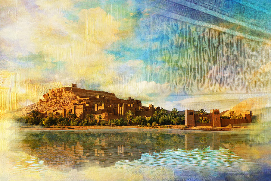 Ait Benhaddou  Painting by Catf