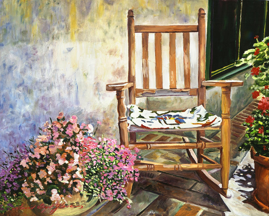 Aix En Provence Painting - Aix Country Patio by David Lloyd Glover