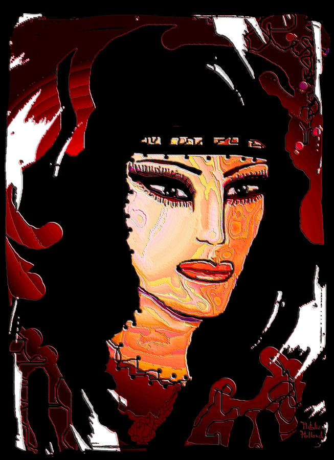 Portrait Mixed Media - Aiyana by Natalie Holland