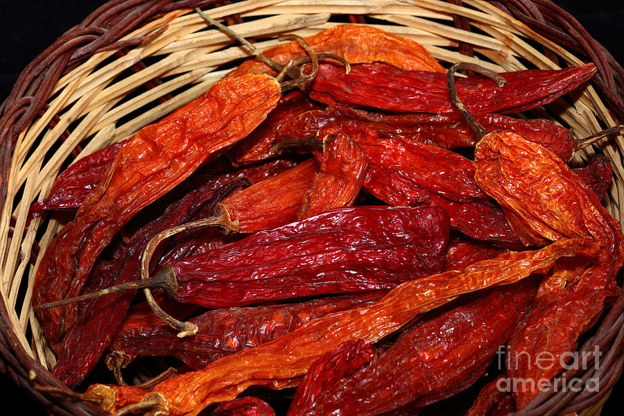 Chili Peppers Photograph - Aji Chilis by James Brunker