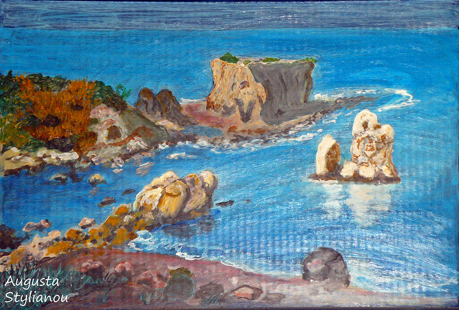 National Park Painting - Akamas Paphos by Augusta Stylianou