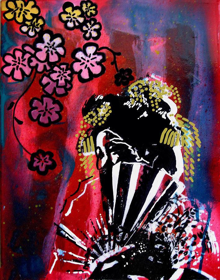 Geisha Painting - Akane by Erica Falke