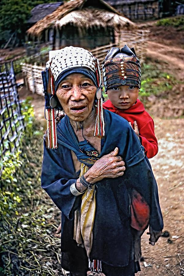 Akha Photograph - Akha Tribe II by Steve Harrington