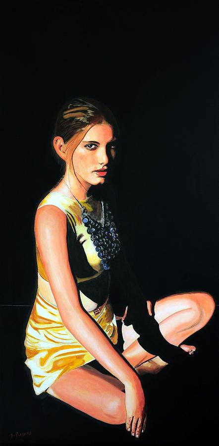Portrait Of Woman Painting - Akshobyas Maiden by Jean-Paul Setlak
