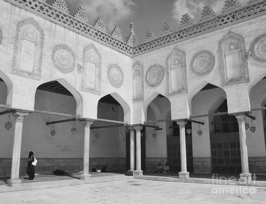 Mosque Photograph - Al Azhar Mosque Cairo by Nigel Fletcher-Jones