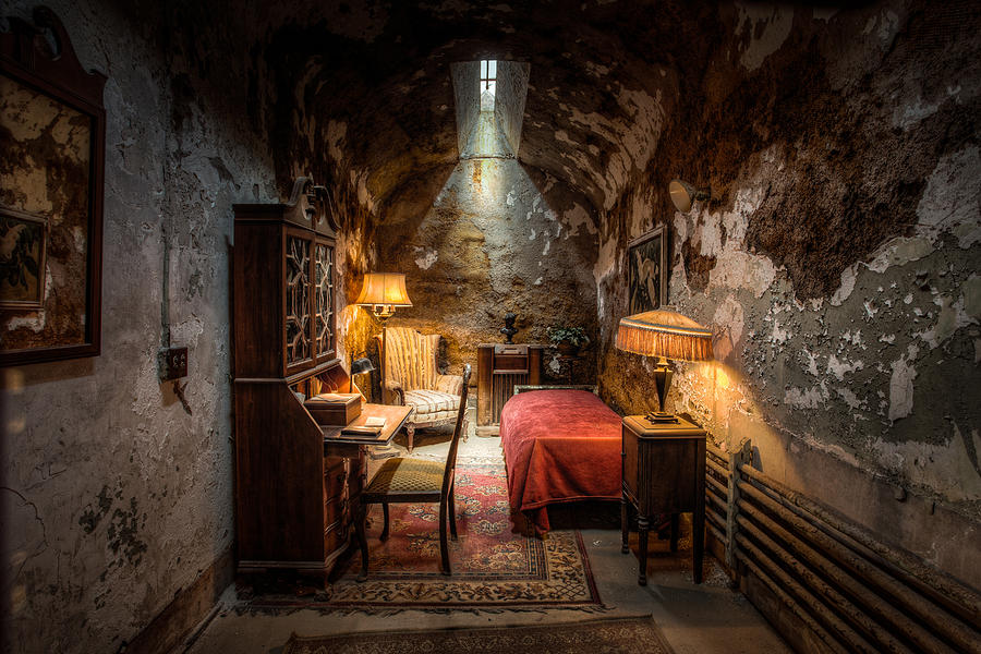 Scarface Photograph - Al Capones Cell - Historical Ruins At Eastern State Penitentiary - Gary Heller by Gary Heller