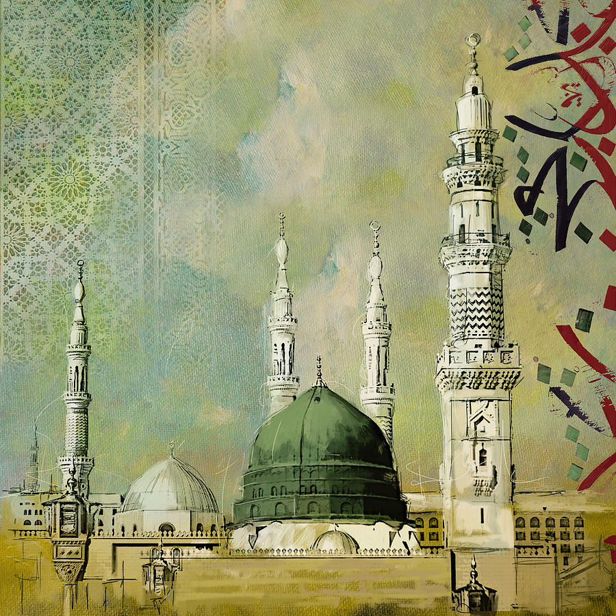 al masjid an nabawi painting by corporate art task force