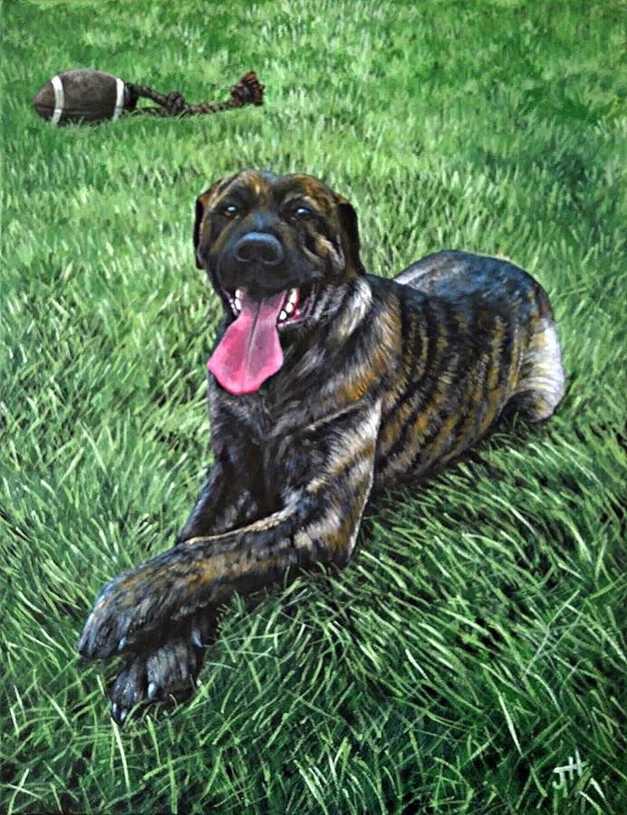 Dog Painting - Al Poochino by Jennifer Hotai