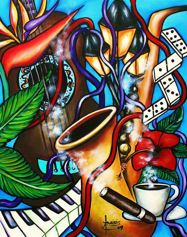 Cuba Painting - Al Ritmo The Carnaval by Annie Maxwell