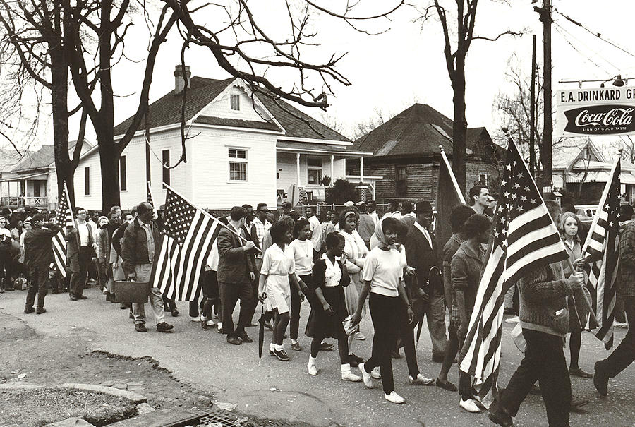 1960s Photograph - Alabama Civil Rights March by Peter Pettus