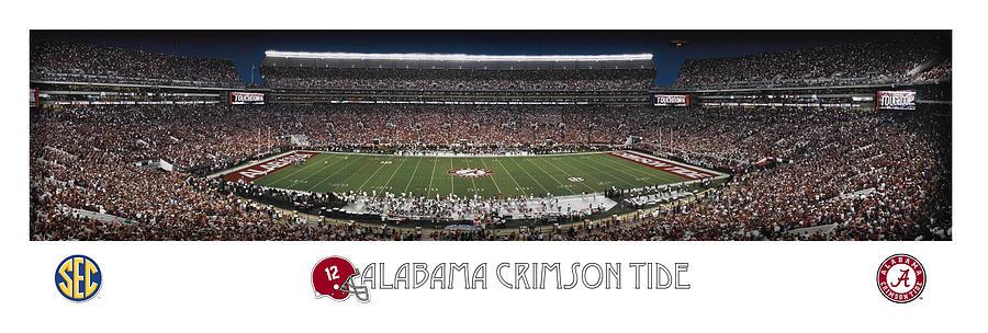 Alabama Photograph - Alabama Football Panorama by Retro Images Archive