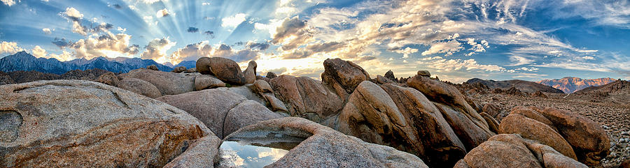 Sunset Photograph - Alabama Hills Sunset by Cat Connor